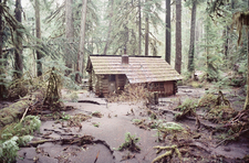 Ipsut Creek Patrol Cabin With Flood Debris