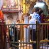 Maa's Durbar As Seen From The Havan Kund