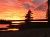 Jatkankynttila Bridge In Sunset