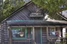 Jenny Lake Ranger Station Close Up- Grand Tetons - Wyoming - USA