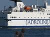 The Ferry Petar Hektorović Departing The Port Of Split
