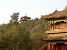 Balcony And Tiled Roof Of Pagoda