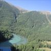 Kanas Lake Besides The Alpine Glacier
