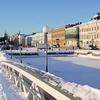 Kauppatori Market Square Covered In Ice