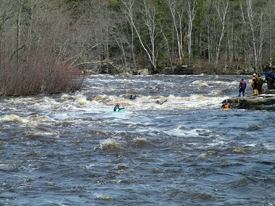 Kayakers On Kettle River