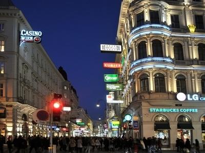 Kärntner Straße At Night