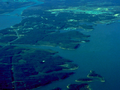 Kentucky And  Barkley  Lakes Aerial View