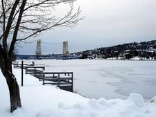 Keweenaw Waterway In Winter