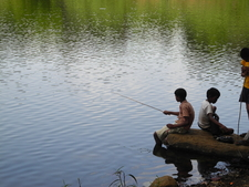 Khandala Lake - Local Fisherboys - Maharashtra - India
