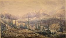 Kishenehn Ranger Station Historic District Valley - Glacier - USA