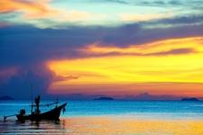 Koh Samui Sunset With Fishing Boat