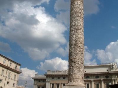 The Column Of Marcus Aurelius In The Square
