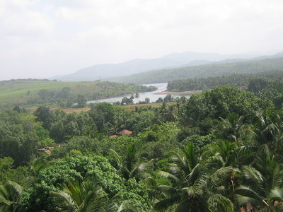 Kumta Scenery With A View Of Aghnashini River