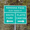 Kenosha Pass Sign