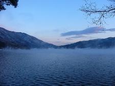 Lake Kizaki In Winter