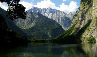Knigssee Obersee Near Berchtesgaden