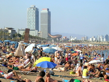 La Barceloneta Beach Sun Bath