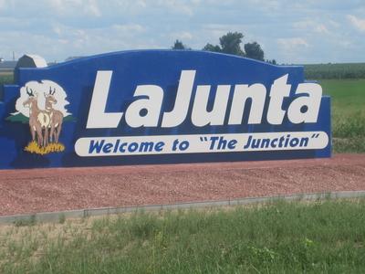 La Junta  2 C  C O  2 C Welcome Sign  I M G  5 6 8 2