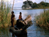 Lake Chiuta - Fishermen Viewed From Chiuta Isl