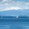 Lake Taupo, With The Snow Caped Mount Ruapehu