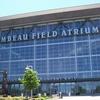 Sign For The Atrium Outside Lambeau Field