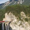 RhB Train On The Landwasser Viaduct