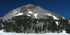 Lassen Peak As Seen From Lake Helen