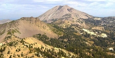 Lassen Peak From The Summit Of Brokeoff Mountain