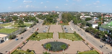 La Ville De Vientiane Vue Du Haut Du Patouxai (Laos)