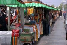 Leftbarkhor. Rightjokhang Market