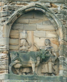 Legend Of The Founding Of Durham Depicted On Cathedral