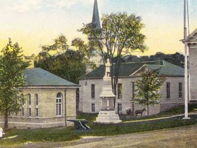Library Church And Town Hall Dexter