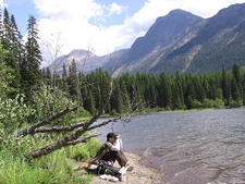 Lincoln Lake Trail Views - Glacier - Montana - USA