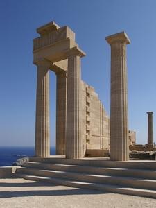 Doric Temple Of Athena Lindia