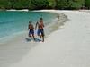 Local Children On Champagne Beach
