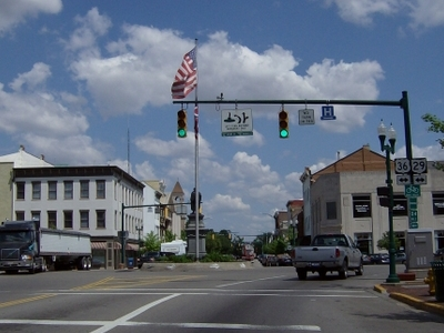 Located At The Center Of Urbana Is A Large Roundabout.