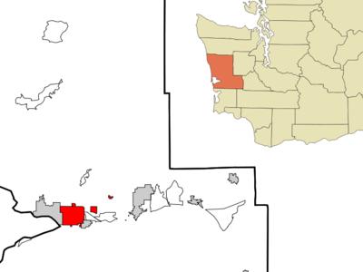 Location Of Aberdeen In Grays Harbor County Washington