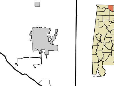 Location In Limestone County And The State Of Alabama