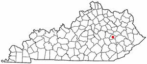 Location Of Beattyville Kentucky