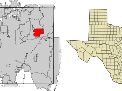 Location Of Bedford In Tarrant County Texas