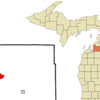 Location Of Bellaire In Antrim County Michigan