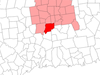 Location Within Hartford County Connecticut
