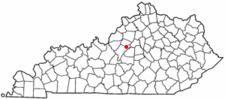 Location Of Bloomfield Kentucky