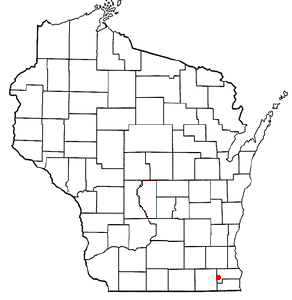 Location Of Burlington Within Wisconsin