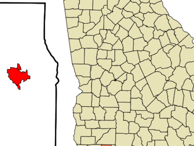 Location In Grady County And The State Of Georgia