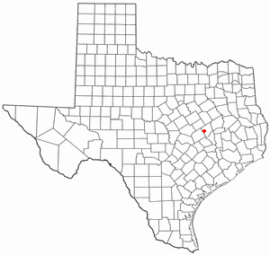 Location Of Calvert Texas