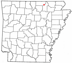 Location Of Cherokee Village Arkansas