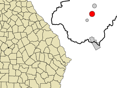 Location In Rabun County And The State Of Georgia