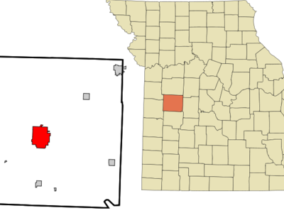 Location Of Clinton Missouri