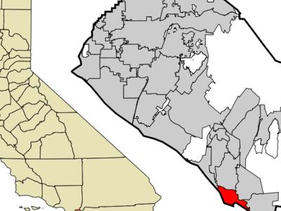 Location Of Dana Point Within Orange County California.